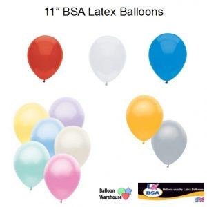 11 Inch BSA Brand Latex Balloons