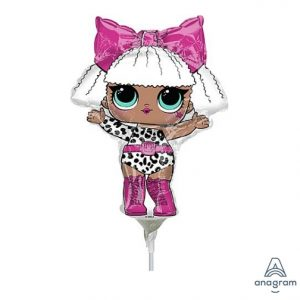 LOL Surprise Folienballon Diva Meerjungfrau Ballon Zahl 3 4 5 6 7 9 Pink Ballon