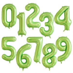 """34"""" Green Number Balloons"""
