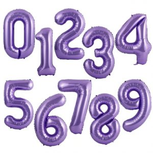 """34"""" Purple Number Balloons"""