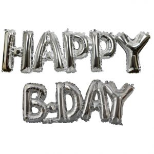 Happy B-day Silver Phrase
