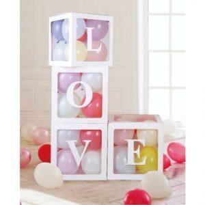 LOVE balloon boxes