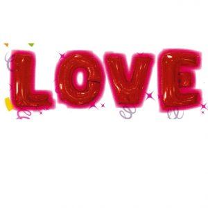 """16"""" Letter Love Foil Balloons"""