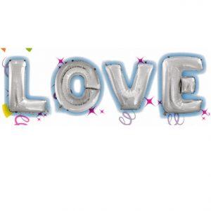 """16"""" Silver Air Fill Love"""