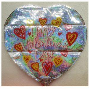 18″ Valentine's Day - Watercolor Hearts - Foil Balloon