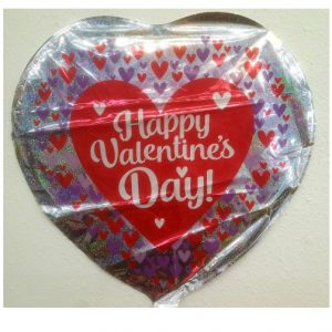 18″ Valentine's Day - Hearts Holographic - Foil Balloon