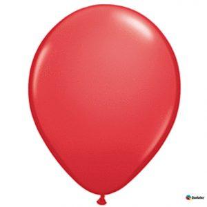 "9"" Qualatex Red Latex"