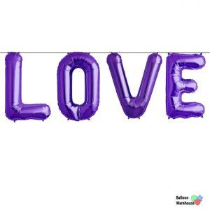 "14"" Love Purple Letters"