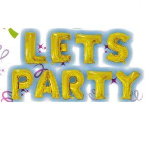 Lets Party Gold Letters