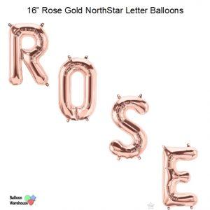 16 Inch NorthStar Rose Gold Letter Balloons