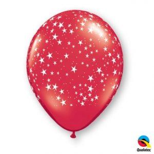 """11"""" Stars Around Ruby Red 50ct"""