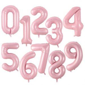 "34"" Pastel Baby Pink Number Balloons"