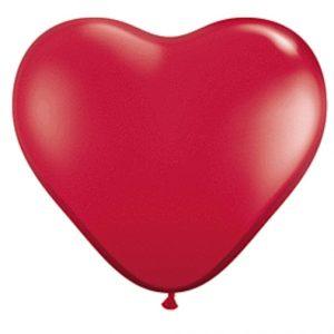 "11"" Qualatex Heart Latex - Ruby Red"