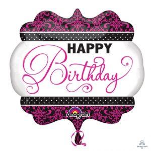 "25"" Pink/Black/White Birthday"