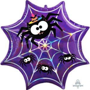 """22"""" Iridescent Spiderweb"""